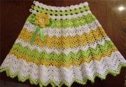 Как связать спицами юбку для девочки