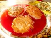 Рисовые биточки с ягодной начинкой