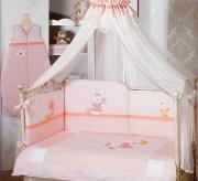 БОРТИКИ НА ДЕТСКУЮ КРОВАТКУ: Нужен кусок ткани ( хлопок, бязь, ситец), на стандартную детскую кровать мне хватило 1...